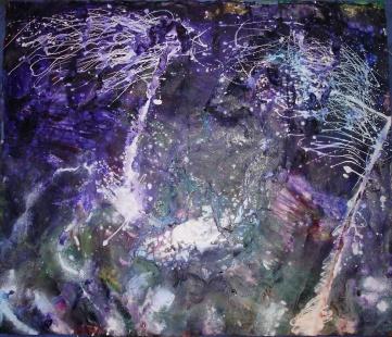'FLOATING SEAWEED' - ink and acrylics (125x105cm)